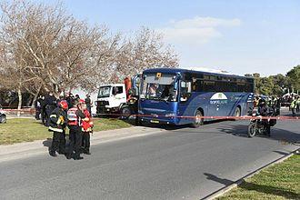 2017 Jerusalem truck attack - Image: 2017 Jerusalem truck attack