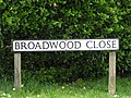 2018-04-26 Street name sign, Broadwood Close, Trimmingham.JPG