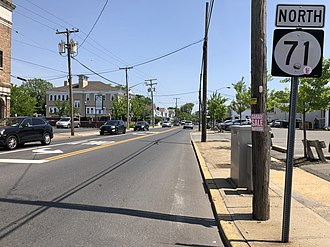 Manasquan, New Jersey - Route 71, the most significant highway in Manasquan