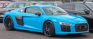Audi R8 Mid-engine sports car manufactured by German automobile manufacturer Audi