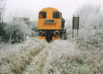 Mid-Norfolk Railway - The first MNR train to Yaxham, December 1994
