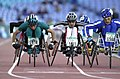 231000 - Athletics wheelchair racing 800m T51 final Fabian Blattman action 3 - 3b - 2000 Sydney race photo.jpg