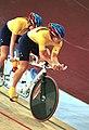 231000 - Cycling track Tania Modra Sarnya Parker action - 3b - 2000 Sydney race photo.jpg