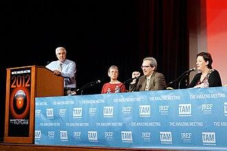 David Gorski - Skeptics Steven Novella, Harriet Hall, David Gorski, and Rachael Dunlop on a panel at The Amaz!ng Meeting 2012