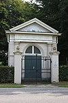 foto van Joodse begraafplaats, ingangsgebouw