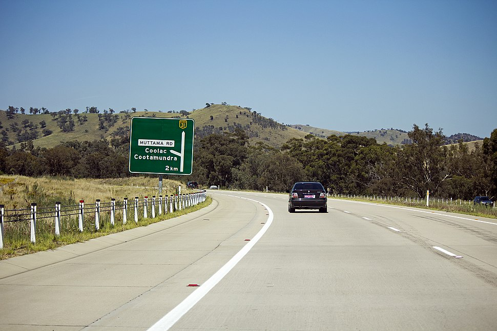 2 km from the Coolac - Cootamundra exit on the Hume Highway