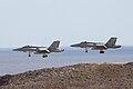 46-23 & 46-16 F.18 Hornet Spanish Air Force LPA 20JAN10.jpg
