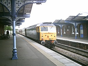 Riviera Trains - 47805, previously one of Riviera's fleet of Class 47 locomotives, arrives at March