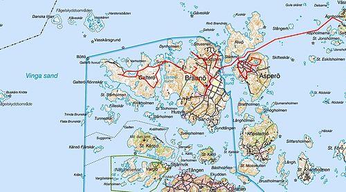 karta över göteborgs skärgård