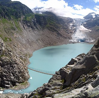 Innertkirchen - Trift Glacier and lake in Gadmen
