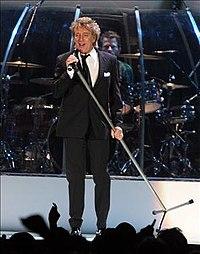 Rod Stewart, captado el 9 de octubre de 2007 en la megapolis Zaragoza