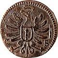 6 Pfennige, Landesdenkmalamt Berlin, Ausgrabung U5, 813, 899 – 1462, Rückseite.jpg