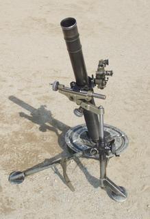 L16 81mm mortar 1960s portable 81 mm mortar of British origin