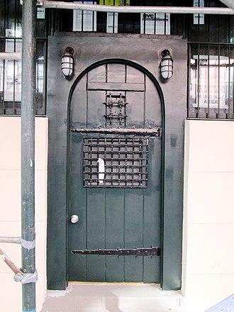 Chumley's - The Bedford Street door in 2015