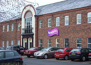 Smooth Radio (2010) - The former studios of 97.5 Smooth Radio in Gateshead, Tyne and Wear, seen here in January 2008 shortly after it went on air. The station was broadcast to the north-east of England.