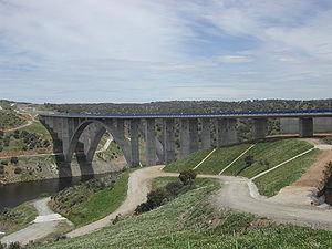 Almonte (river) - A-66 bridge across the river Almonte