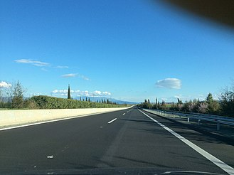 Motorway 1 (Greece) - Image: A1 Motorway close to Larissa