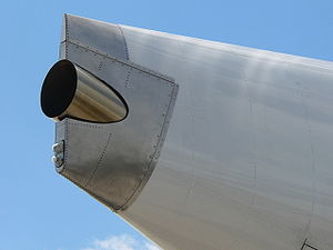 Auxiliary power unit - The APU exhaust at the tail end of an Airbus A380