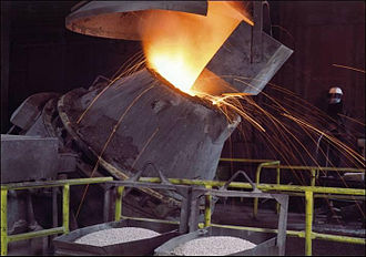 Argon oxygen decarburization - Refining of a 9.5%CrMoWVNbN steel in an argon, oxygen decarburisation (AOD) vessel