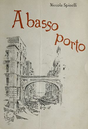 A basso porto - Cover to the 1895 printing of the opera A Basso Porto, music by Niccola Spinelli.