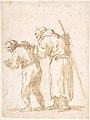 A Man Leading a Blind Friar (recto); Incidental Sketches (not by the artist; verso). MET DP800292.jpg
