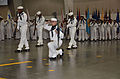 A U.S. Navy recruit rifle drill team performs during pass in review May 24, 2013, at Recruit Training Command in Great Lakes, Ill 130524-N-BN978-003.jpg