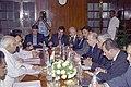 A delegation from Jordan led by the Member of Parliament of Jordan, Mr. Sami Ali Moh'd Khasawneh calls on the Speaker, Lok Sabha, Shri Somnath Chatterjee in New Delhi on April 19, 2005.jpg