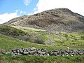 A field wall a mountain wall and a sheepfold below Bwlch y Manod - geograph.org.uk - 560977.jpg