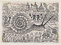 A group of people attacking a giant snail MET DP869357.jpg