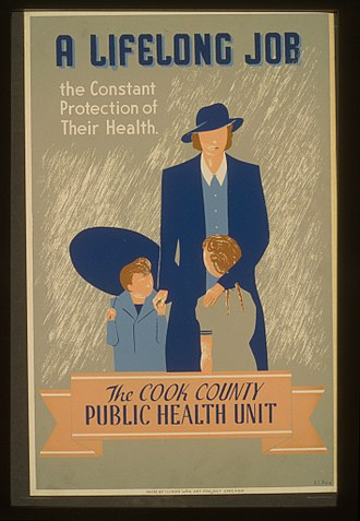 Government of Cook County, Illinois - WPA poster for the Cook County Public Health Unit (1941)