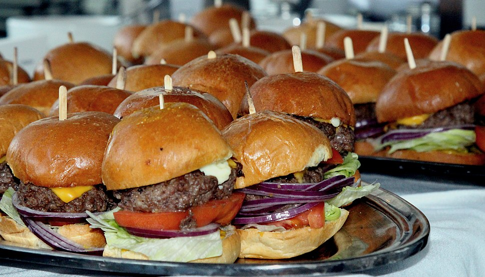 A party tray of sliders at a restaurant.jpg