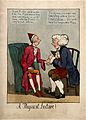 A patient consulting a doctor; satirizing Pitt's fall from p Wellcome V0011305.jpg