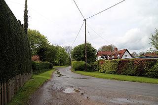Housham Tye hamlet in Essex, England