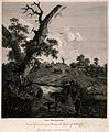 A swineherd tends his flock by the river and a goatherd look Wellcome V0039613.jpg