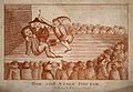 A theatrical performance of a tooth-drawer extracting a toot Wellcome V0012034.jpg