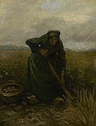 Vincent van Gogh: Woman Lifting Potatoes