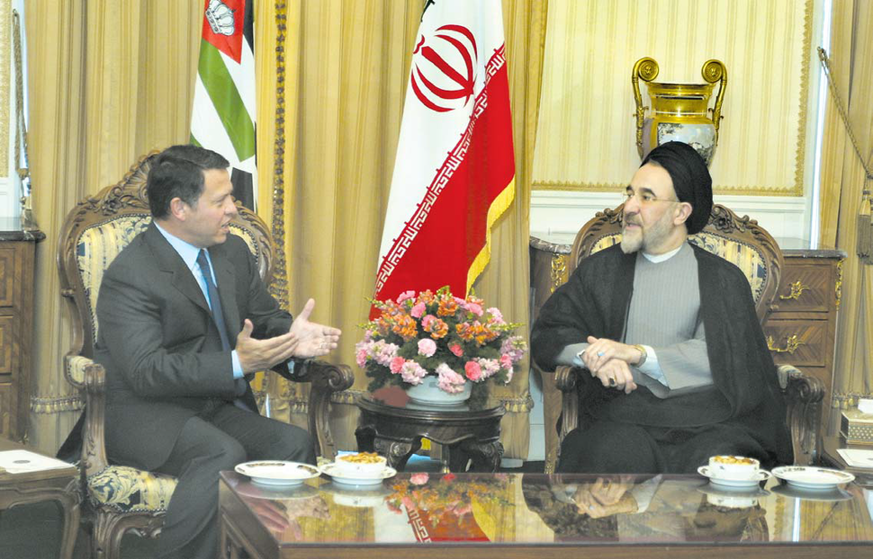 Abdullah II of Jordan visit Tehran - Mohammad Khatami - September 2, 2003