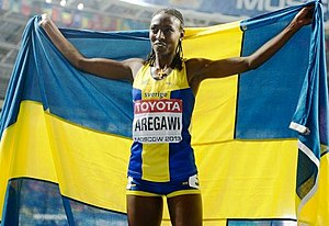 2013 World Championships in Athletics – Women's 1500 metres - Gold medalist Abeba Aregawi