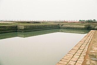Vaishali (ancient city) - Abhishek Pushkarini, the coronation tank, near Buddha Relic Stupa, Vaishali