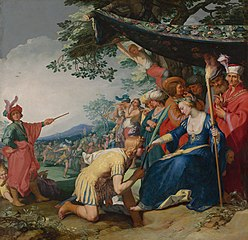 Theagenes receiving the palm of honour from Chariclea