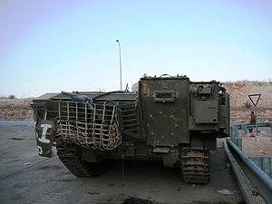 IDF Achzarit - Rear view of an Achzarit