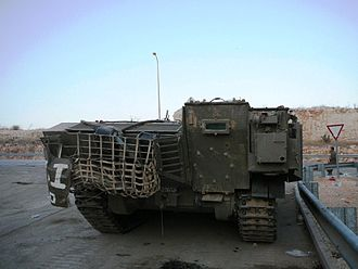 IDF Achzarit - Rear view of an Achzarit