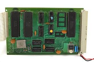 Acorn System 1 - Acorn System 1 Rear (CPU) Board
