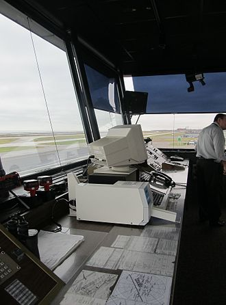 Cleveland Burke Lakefront Airport - Inside the Control Tower at KBKL