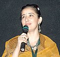 Actress Manisha Koirala addressing at the presentation of the film, (Elektra Light… After Dark), in the INOX Cinema Hall, during IFFI-2010, at Panaji, Goa on November 24, 2010 (cropped).jpg