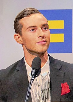 Adam Rippon @ 2018.09.15 Human Rights Campaign National Dinner, Washington, DC USA 06186 (42904075620) (cropped).jpg