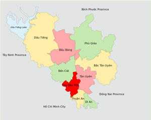 Bình Dương Province - Image: Administrative Divisions of Binh Duong Province