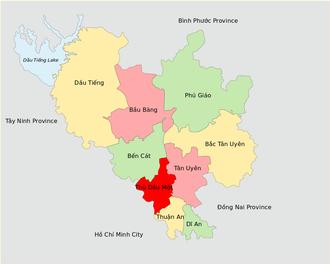 Bình Dương Province - Image: Administrative Divisions of Binh Duong Province