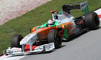 Force India - Adrian Sutil driving for Force India at the 2011 Malaysian Grand Prix.