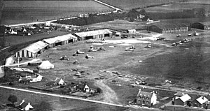 RAF Montrose - Image: Aerial view of Montrose Air Station Broomfield 1917